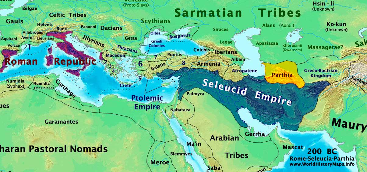 Seleucid and Ptolemic Empire 200 BC