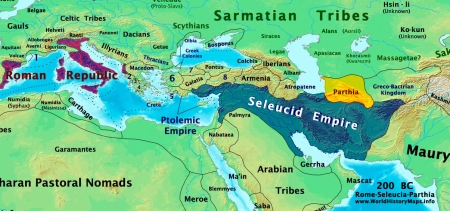 Seleucid and Ptolemic Empire 200 BC