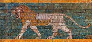 Tile Lion from Ishtar Gate in Babylon