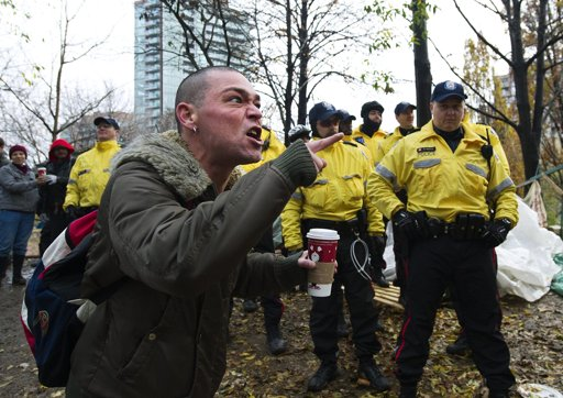 Occupier with Starbucks Coffee because of Capitalism