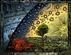 Universum - C. Flammarion, Holzschnitt, Paris 1888, Kolorit : Heikenwaelder Hugo, Wien 1998