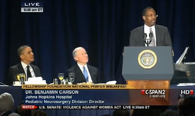 Ben Carson Natl Prayer Breakfast 2013