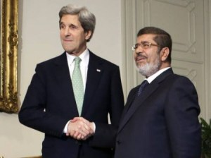 John Kerry and Mohammed Morsi