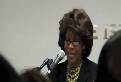 U.S. Congresswoman Maxine Waters says Sharia compatible with U.S. Constitution