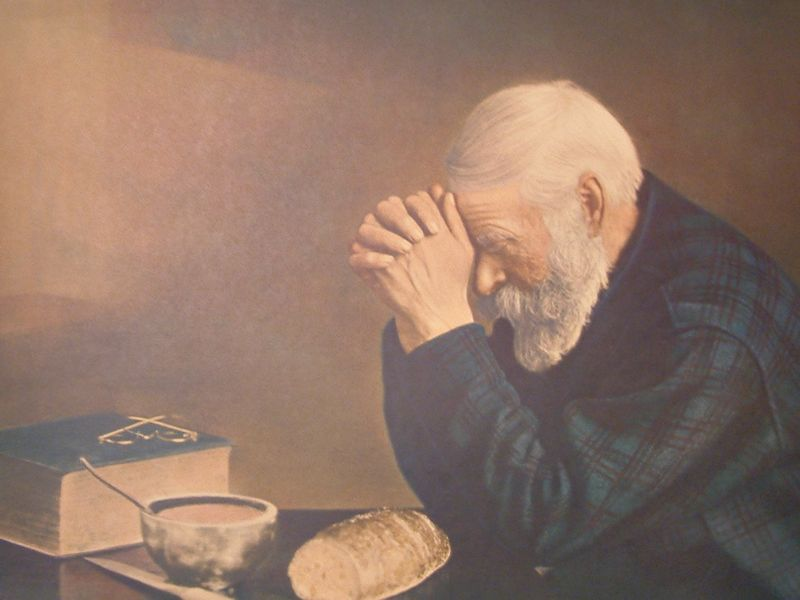 Psalm 37 Old Man Praying