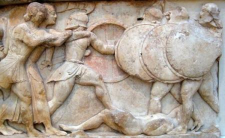 Scene from Gigantomachy or Greek War of the Giants